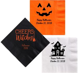 Personalized Halloween Dinner Napkins