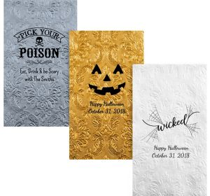 Personalized Halloween Embossed Damask Guest Towels