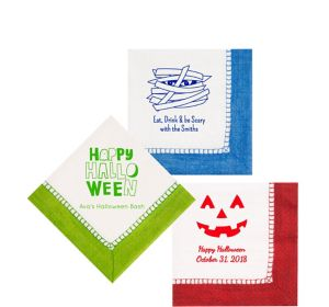 Personalized Halloween Bordered Beverage Napkins