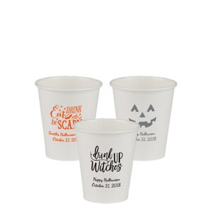 Personalized Halloween Paper Cups 8oz