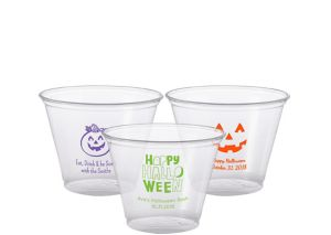 Personalized Halloween Plastic Party Cups 9oz