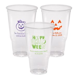 Personalized Halloween Plastic Party Cups 32oz