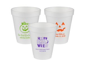 Personalized Halloween Foam Cups 8oz