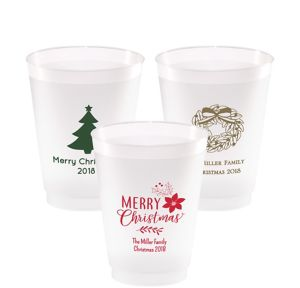 Personalized Christmas Frosted Plastic Shatterproof Cups 16oz