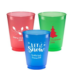 Personalized Christmas Plastic Shatterproof Cups 16oz