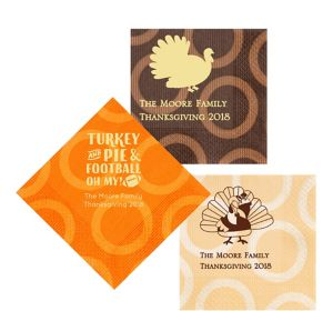 Personalized Thanksgiving Circles Lunch Napkins