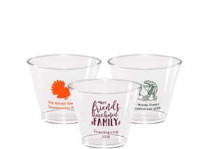 Personalized Thanksgiving Hard Plastic Cups 9oz