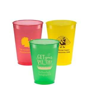 Personalized Thanksgiving Plastic Shatterproof Cups 12oz