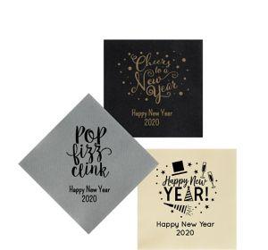 Personalized New Year's Premium Beverage Napkins