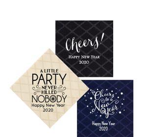 Personalized New Year's Diamonds Beverage Napkins