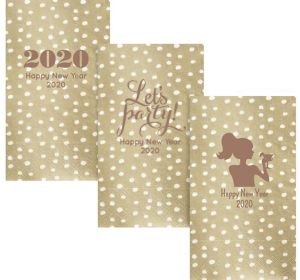 Personalized New Year's Small Dots Guest Towels