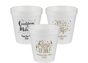 Personalized New Year's Foam Cups 10oz