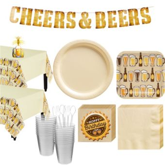 Cheers & Beers Deluxe Party Kit for 32 Guests
