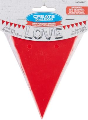 Mini Create Your Own Red Pennant Banner