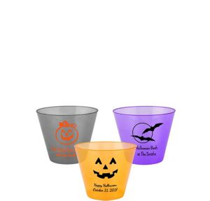 Personalized Halloween Hard Plastic Color Cups 9oz