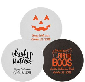 Personalized Halloween 40pt Round Coasters