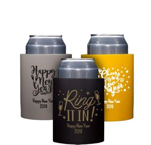 Personalized New Year's Can Coozies