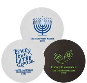 Personalized Hannukah 40pt Round Coasters