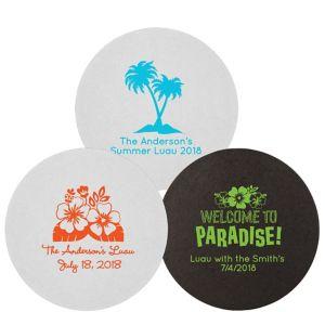 Personalized Luau 40pt Round Coasters
