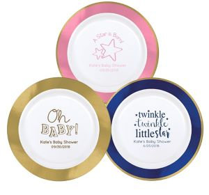 Personalized Baby Premium Round Trimmed Dinner Plates