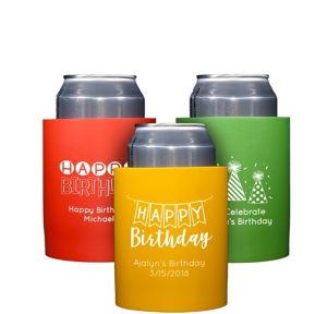 Personalized Birthday Can Coozies