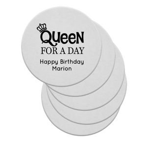 Personalized Milestone Birthday 40pt Round Coasters