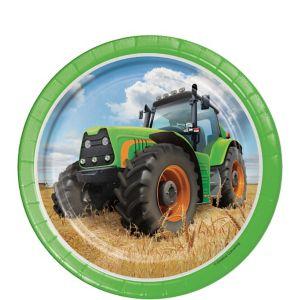 Tractor Dessert Plates 8ct