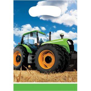 Tractor Favor Bags 8ct