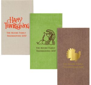 Personalized Thanksgiving Bella Guest Towels