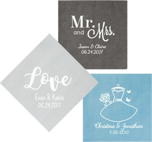 Personalized Wedding Bella Dinner Napkins