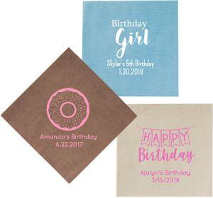 Personalized Girls Birthday Bella Dinner Napkins