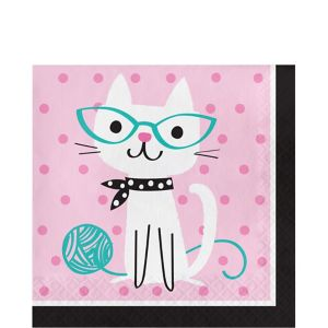 Purrfect Cat Lunch Napkins 16ct
