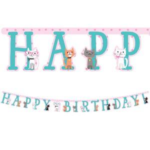 Purrfect Cat Birthday Banner