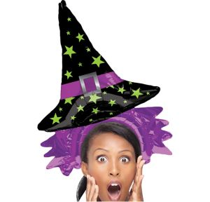 Air-Filled Witch Hat Balloon Hat