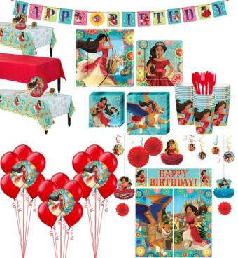 Elena of Avalor Tableware Ultimate Kit for 24 Guests