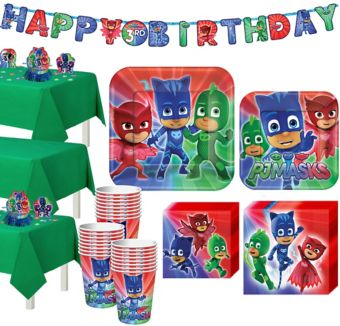 PJ Masks Tableware Party Kit for 24 Guests