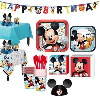 Mickey Mouse Tableware Party Kit for 16 Guests