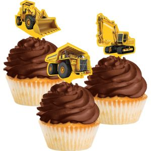 Construction Zone Cupcake Toppers 12ct