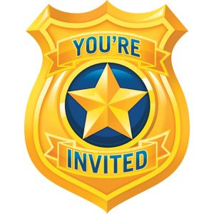 Police Invitations 8ct