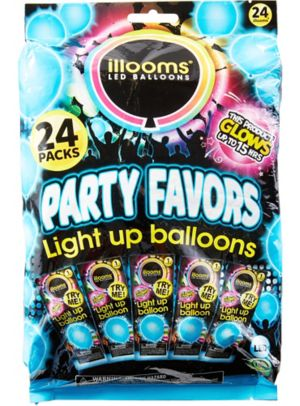 Illooms Light-Up Blue LED Balloons 24ct