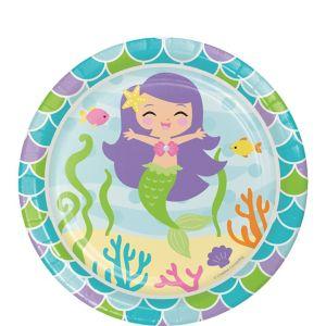 Friendly Mermaid Dessert Plates 8ct