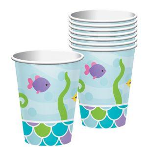 Friendly Mermaid Cups 8ct