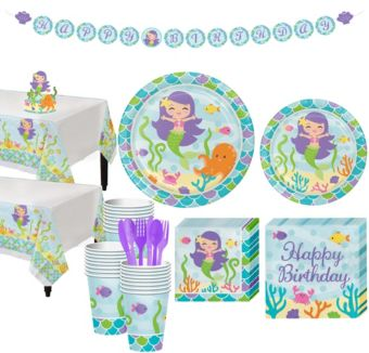 Mermaid Tableware Kit for 32 Guests