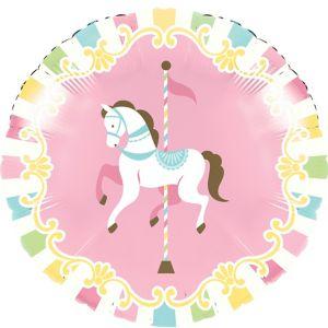 Pink Carousel Balloon
