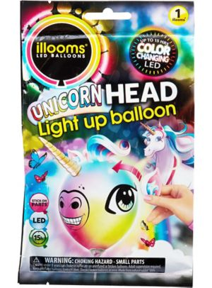 Illooms Light-Up Unicorn Color-Changing LED Balloon