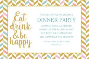 Custom Eat, Drink & Be Happy Invitations