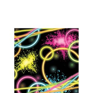 Neon Party Beverage Napkins 16ct