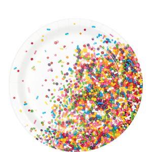 Rainbow Sprinkles Dessert Plates 8ct
