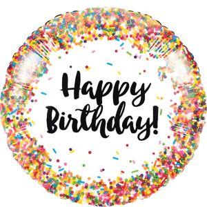 Rainbow Sprinkles Happy Birthday Balloon
