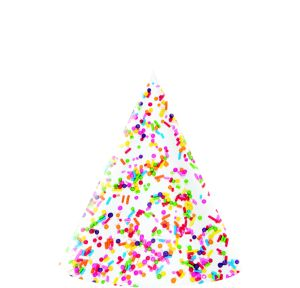 Rainbow Sprinkles Party Hats 8ct
